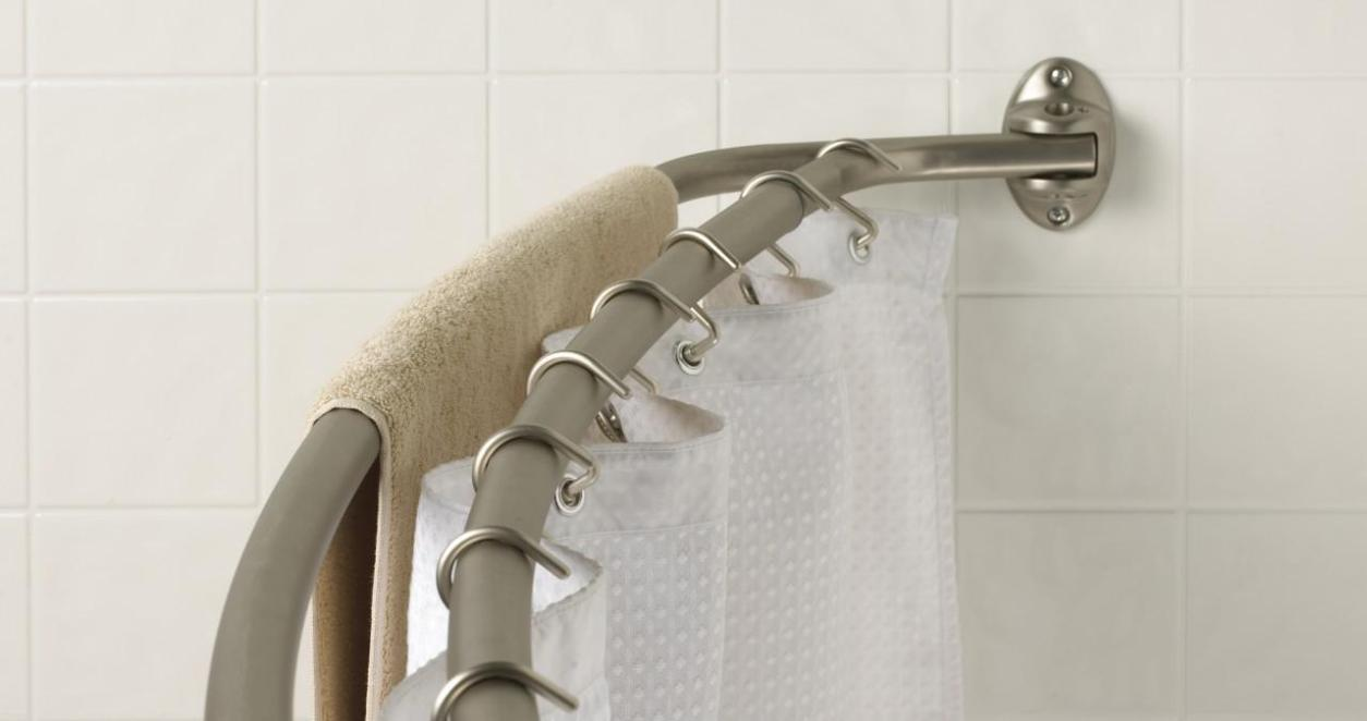 Shower Curtain Tension Rod | Adjustable Shower Rod | Fixed Shower Rods