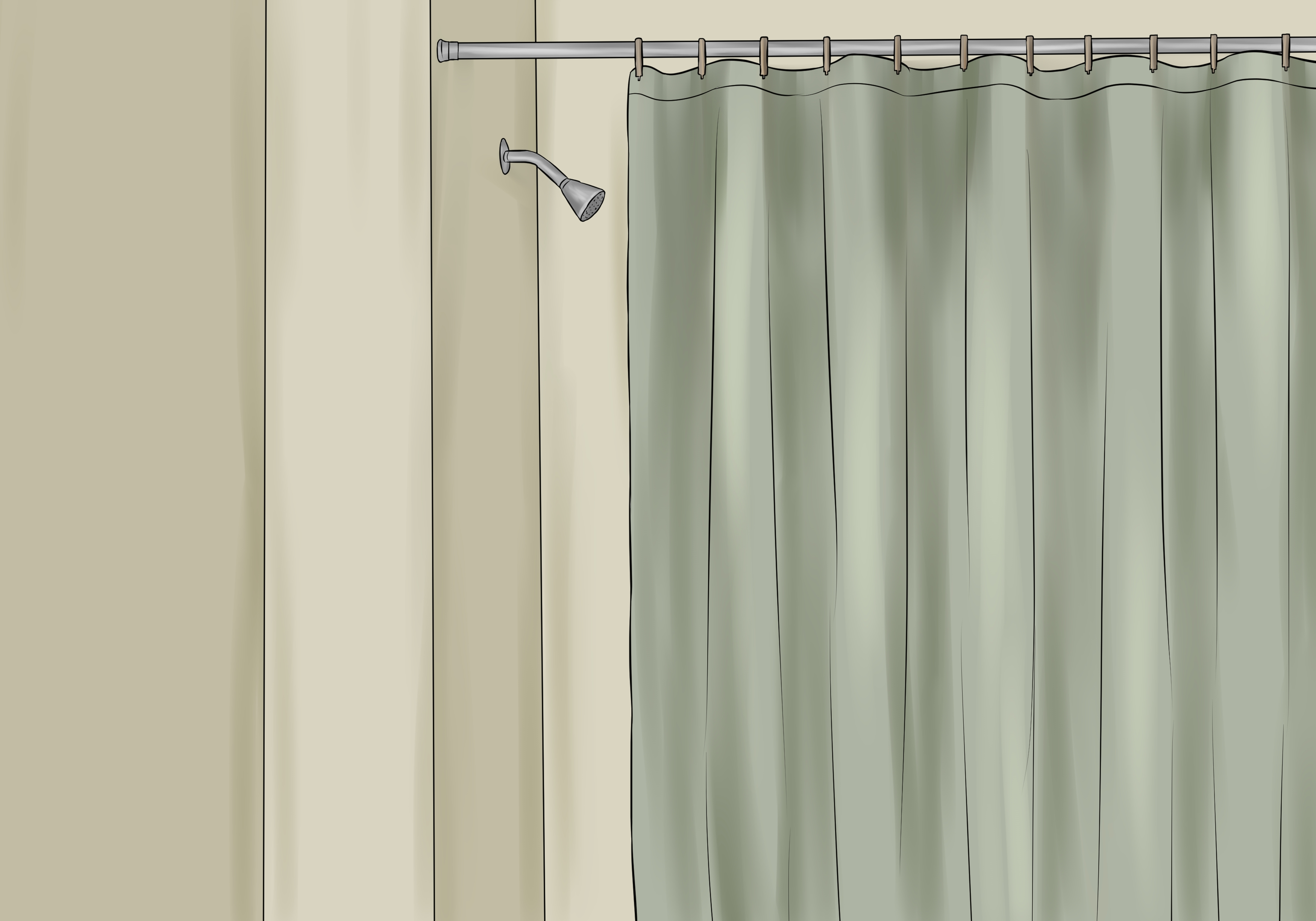 Shower Curtain Tension Rod | Double Shower Curtain Rod | Strong Shower Curtain Rod