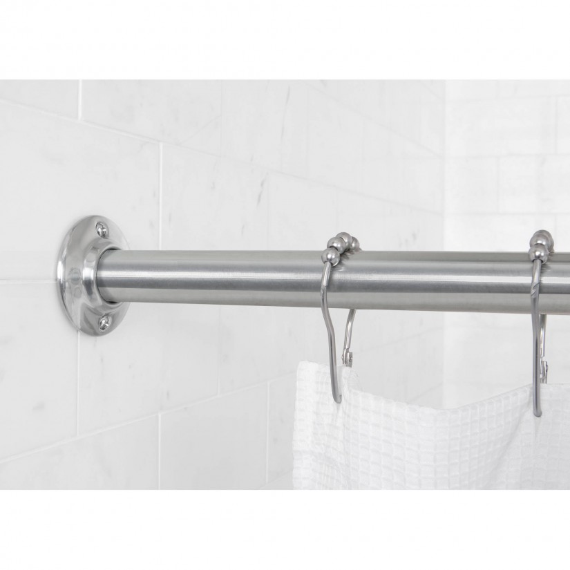 Shower Curtain Tension Rod Extra Long | Shower Curtain Tension Rod | Tension Mounted Curved Shower Curtain Rod