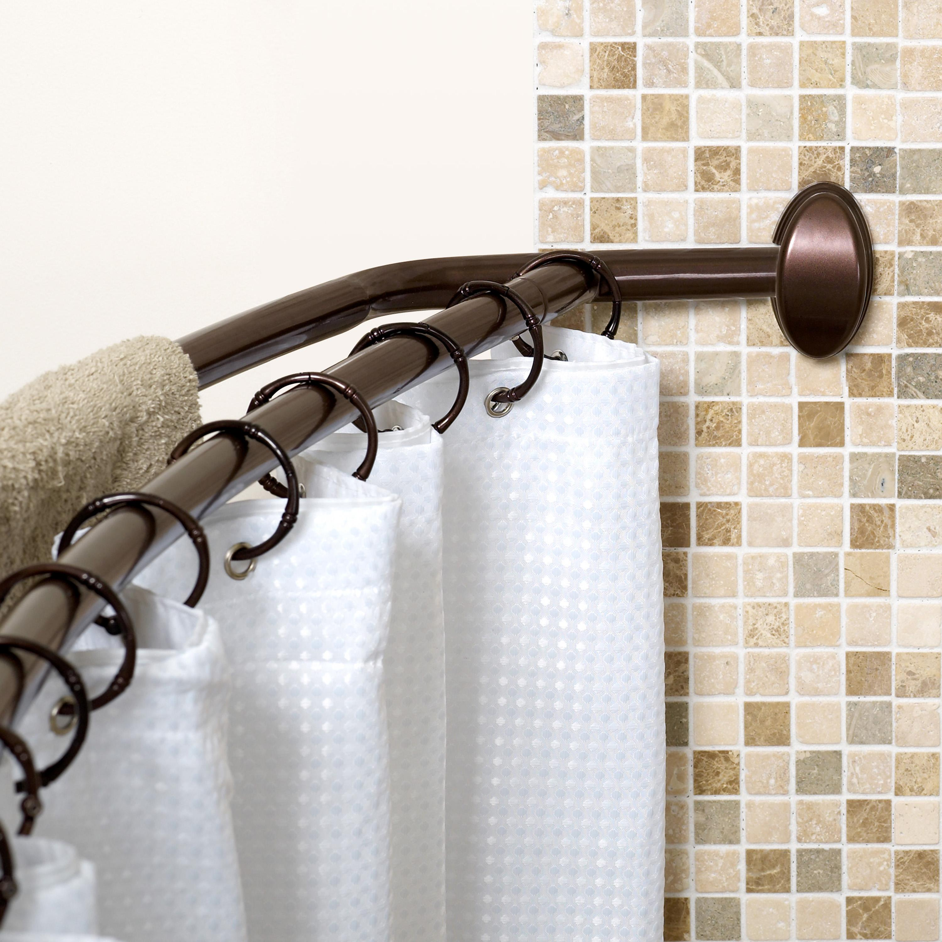 Shower Curtain Tension Rod | Pressure Shower Curtain Rod | Strong Shower Curtain Rod