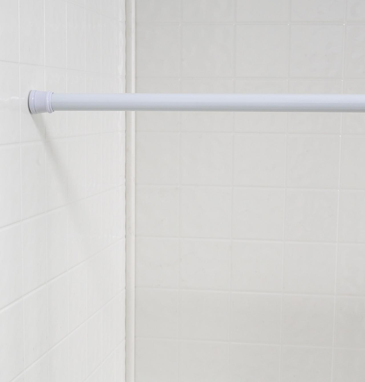 Shower Curtain Tension Rod | Shower Rod Tension | Shower Curtains for Curved Rods