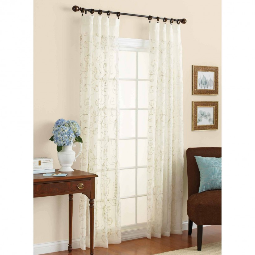 Silk Embroidered Curtains   Neutral Drapes   Embroidered Curtains