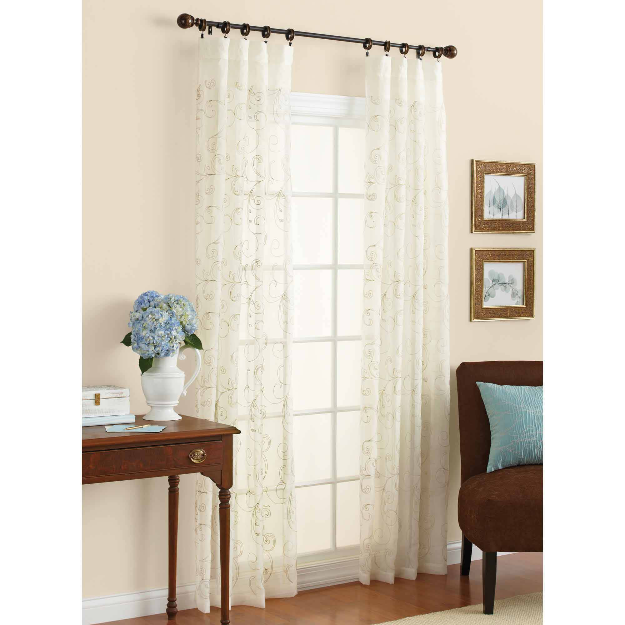 Silk Embroidered Curtains | Neutral Drapes | Embroidered Curtains