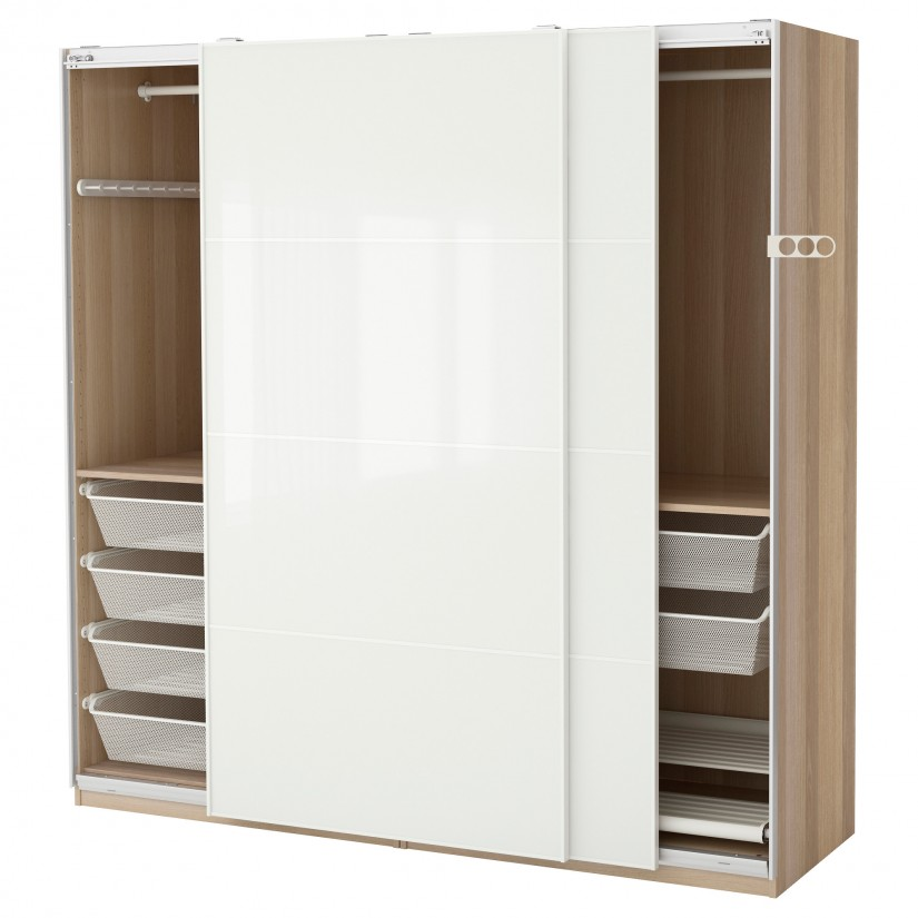 Sliding Door Armoire | Mirrored Wardrobe Armoire | Cheap Wardrobe Closet