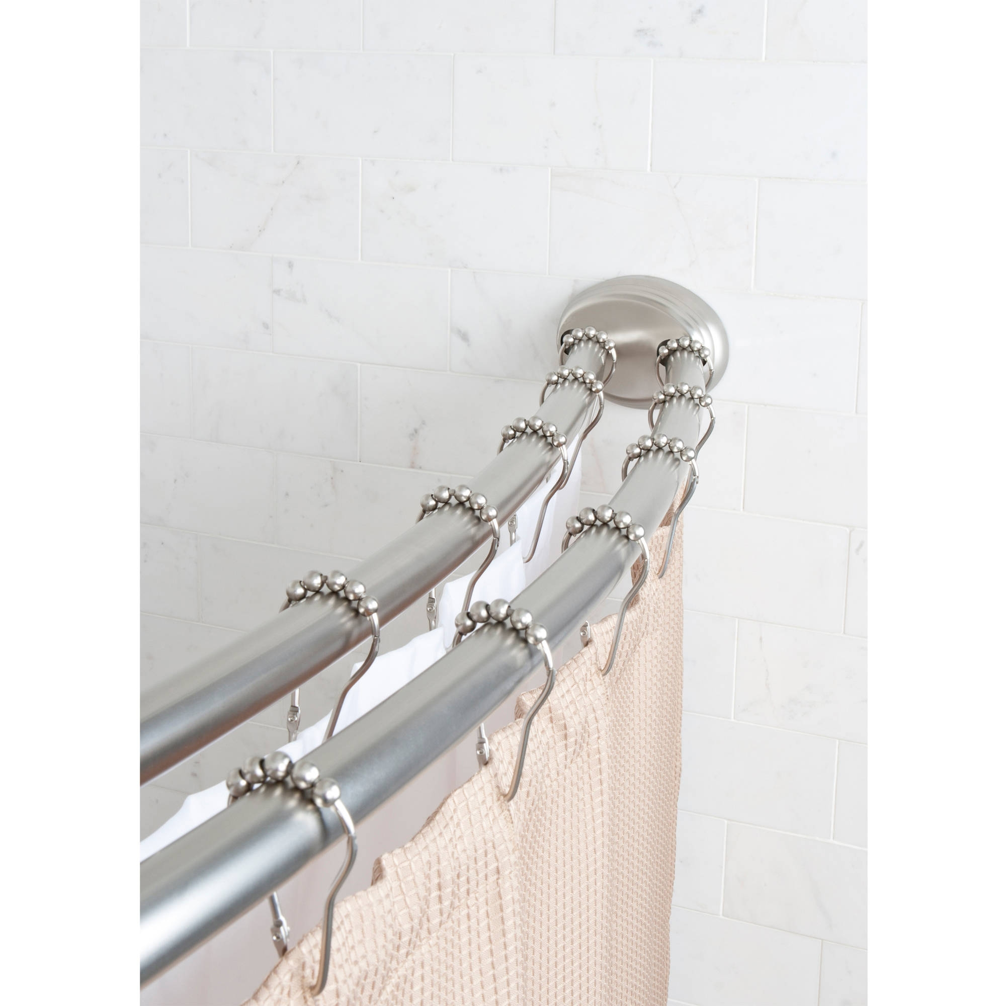 Small Curved Shower Curtain Rod | Curved Curtain Rods | Double Curved Curtain Rod