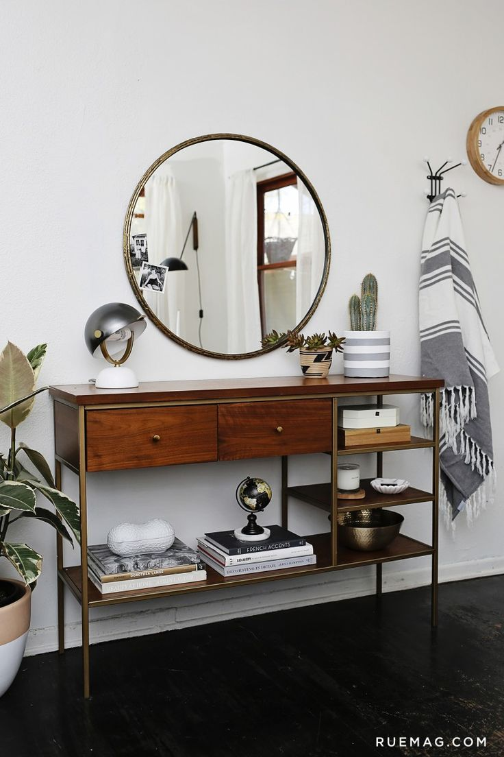 Small Entryway Cabinet | Entryway Mirror Ideas | Entryway Mirror