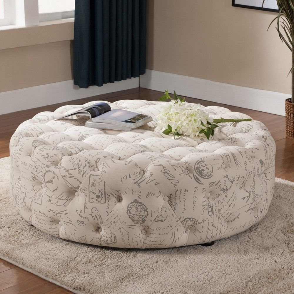 Extra Large Ottoman for Large Space Living Room Design: Small Round Storage Ottoman | Colored Leather Ottoman | Extra Large Ottoman