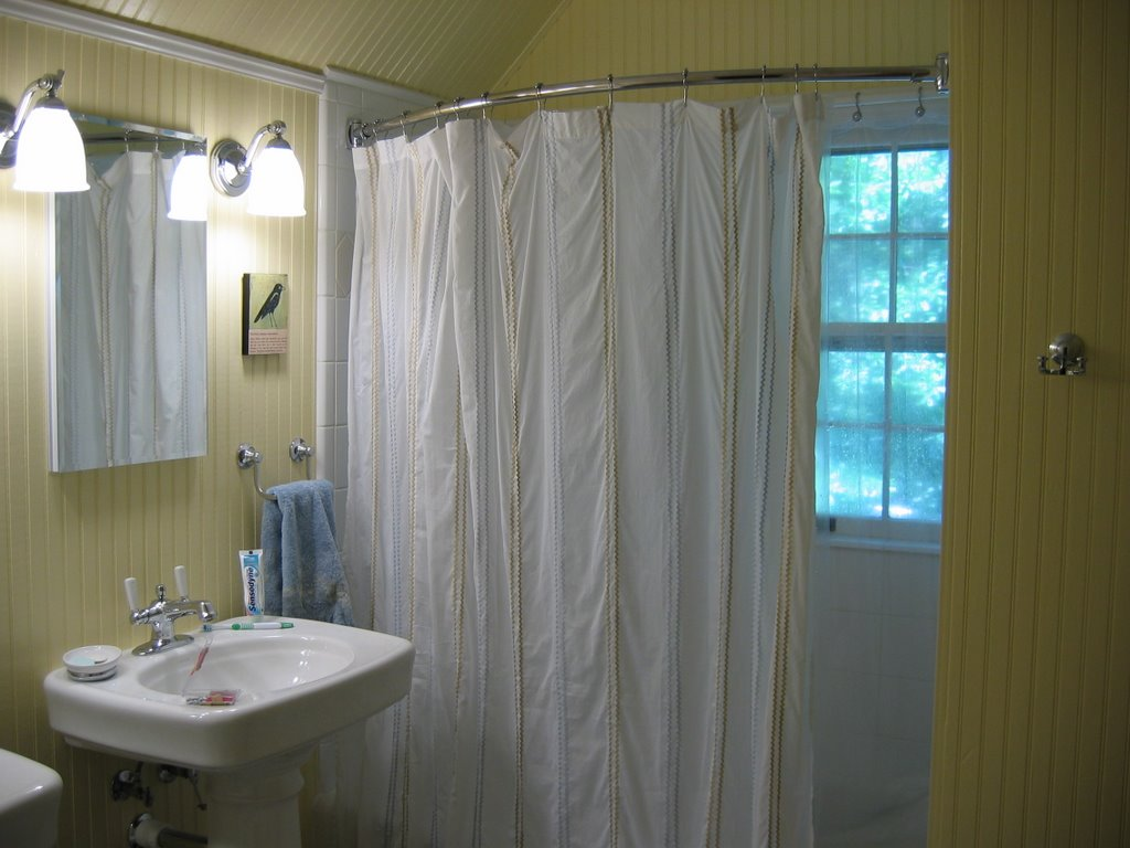 Spring Loaded Curved Shower Curtain Rod | Shower Curtain Tension Rod | Sturdy Shower Curtain Rod