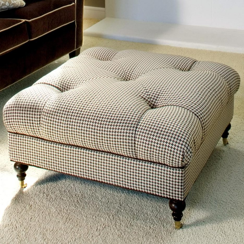 Extra Large Ottoman for Large Space Living Room Design: Square Ottomans Coffee Tables | Extra Large Ottoman | Oversized Storage Ottoman