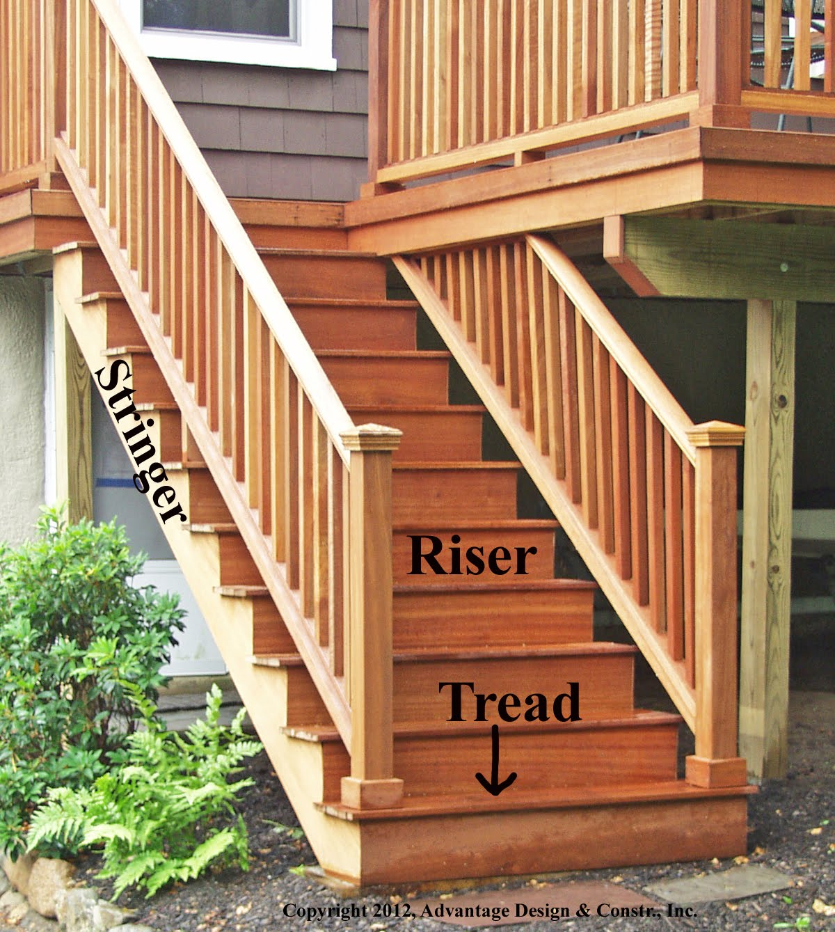 Stair Stringer Dimensions | Build Deck Stairs | How to Build Corner Deck Stairs