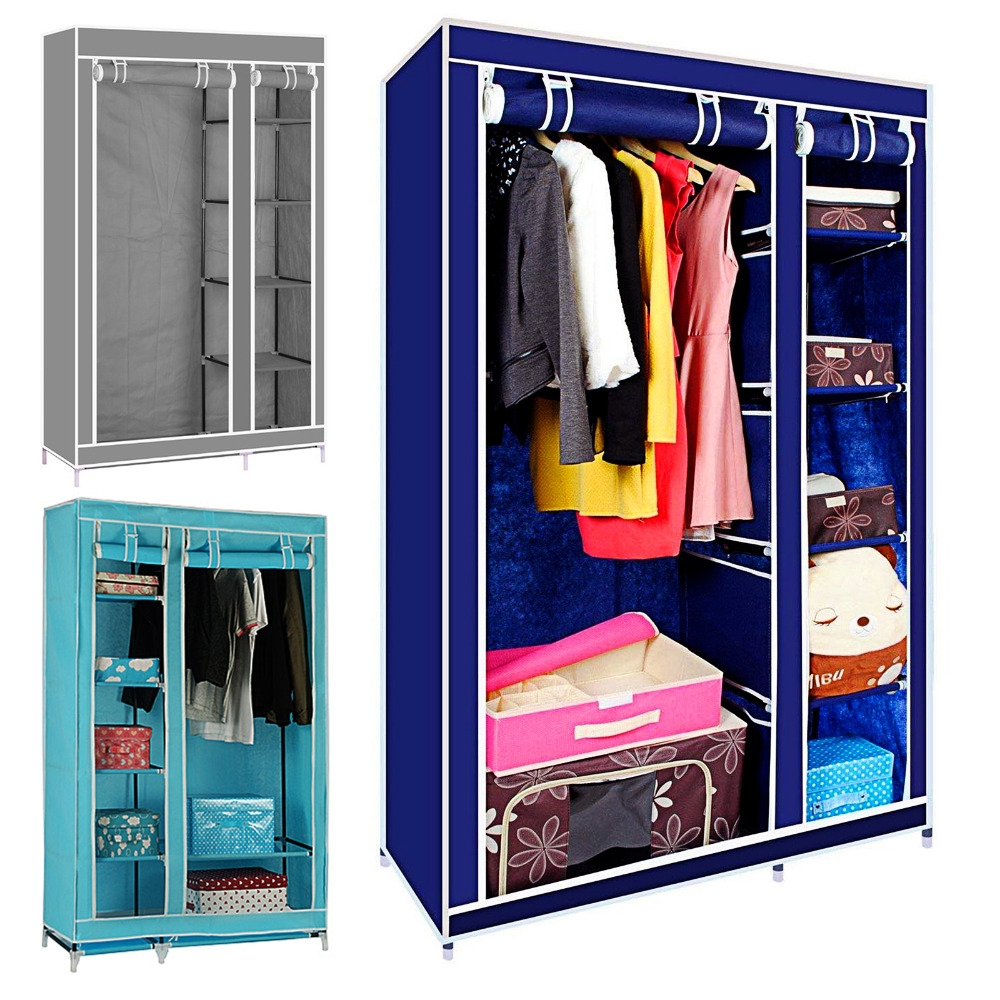 Stand Alone Closets Bedroom | 3 Door Armoire Wardrobe | Cheap Wardrobe Closet