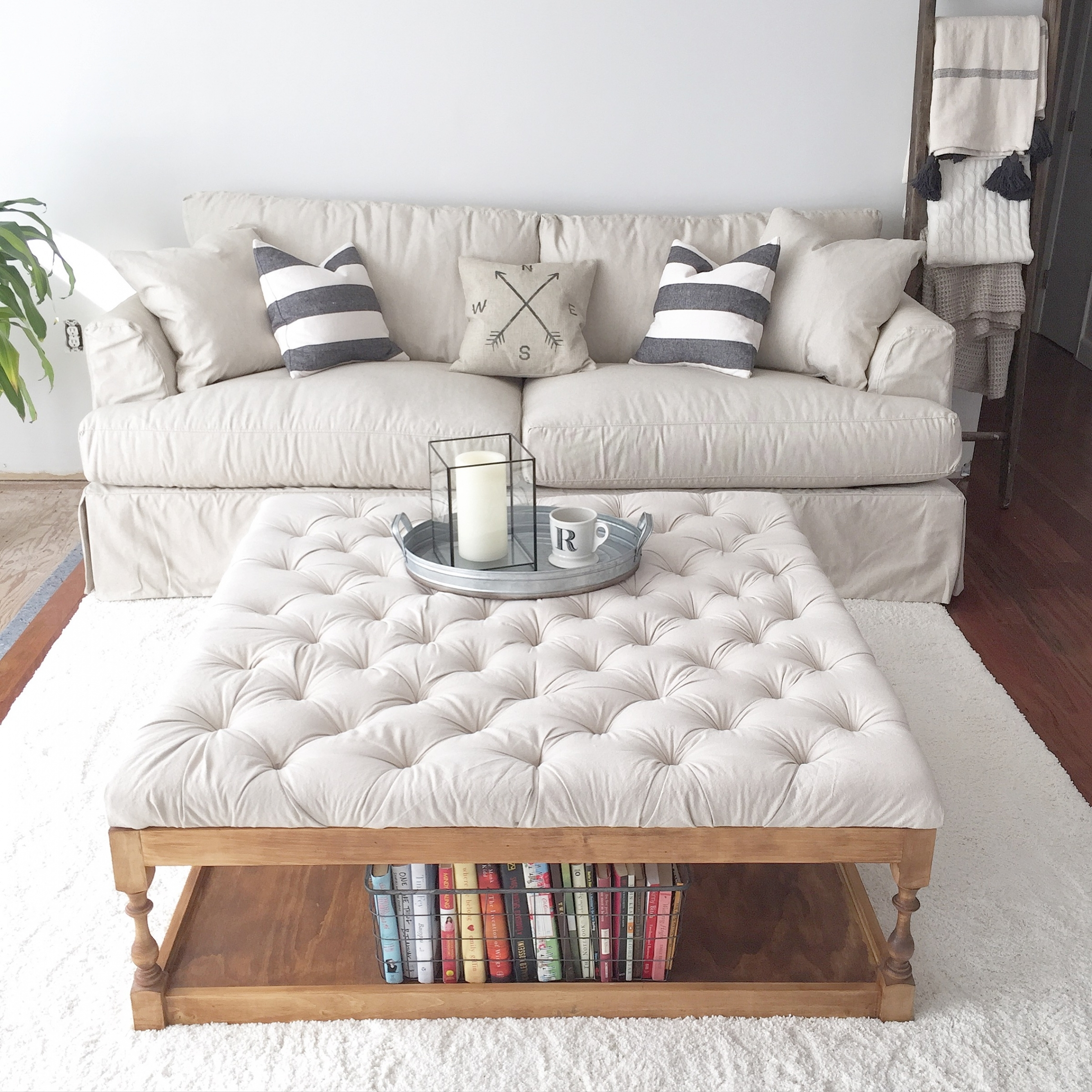 Furniture Oversized Storage Ottoman