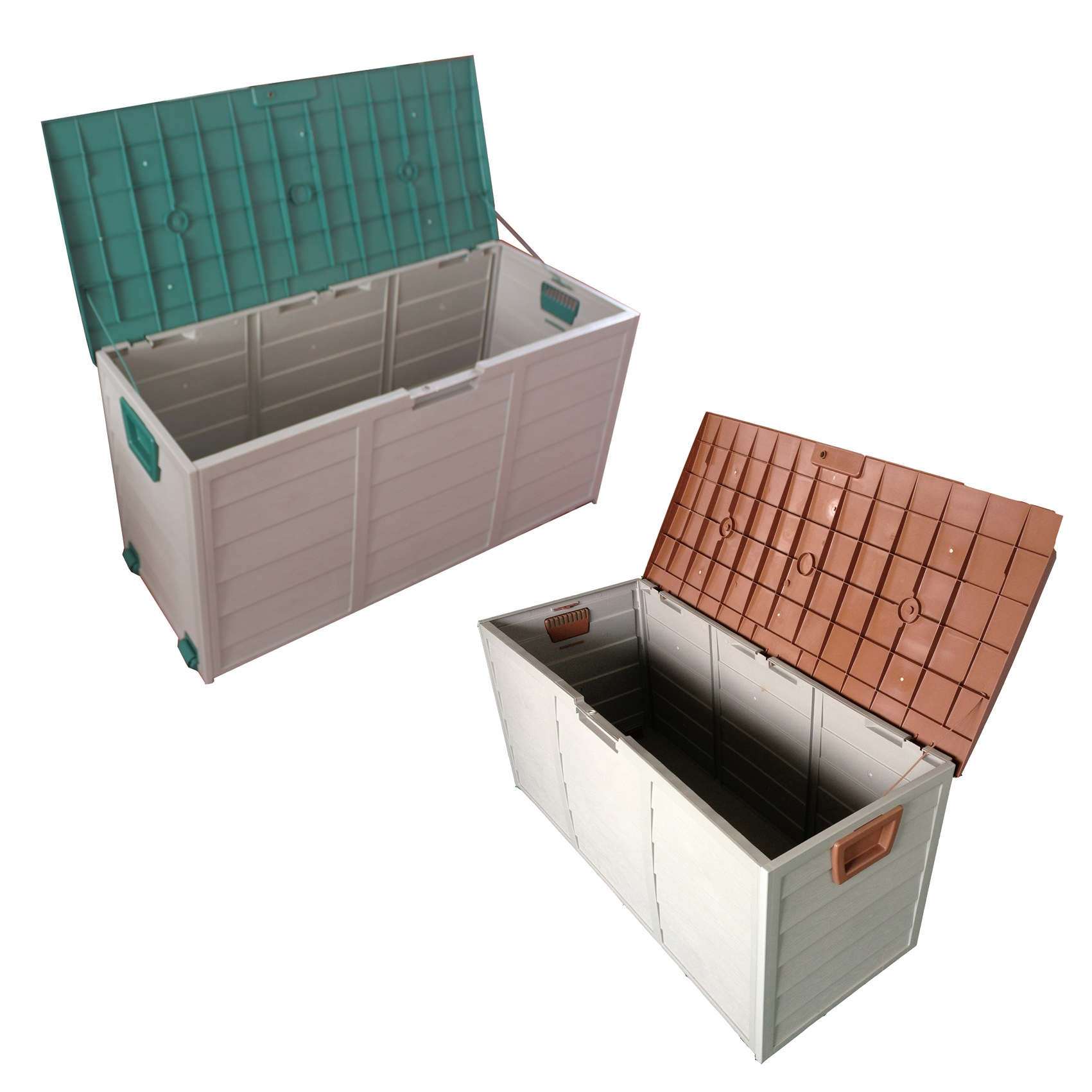 Suncast Wicker Deck Box | Rubbermaid Storage Bench | Wooden Deck Box