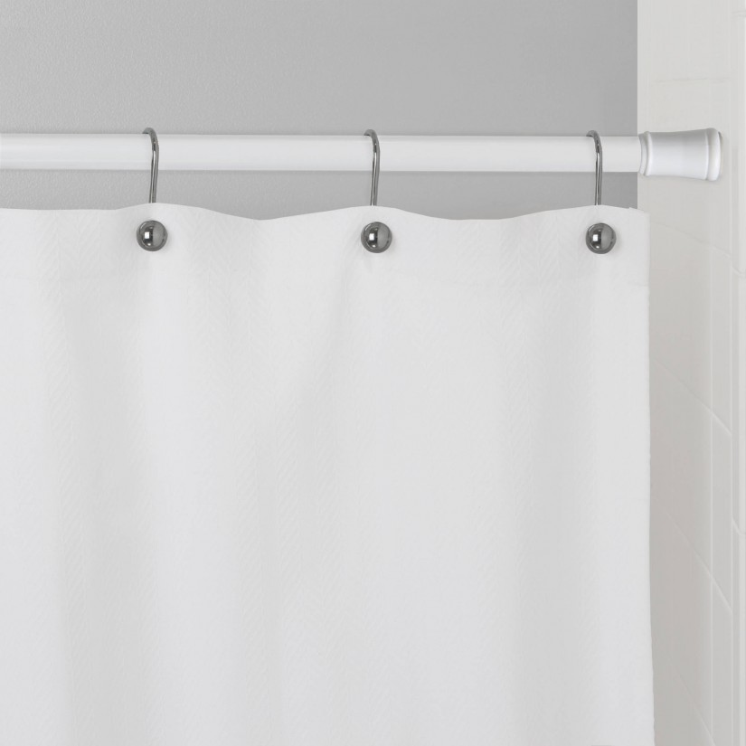 Tension Curved Shower Curtain Rod | Permanent Shower Curtain Rod | Shower Curtain Tension Rod