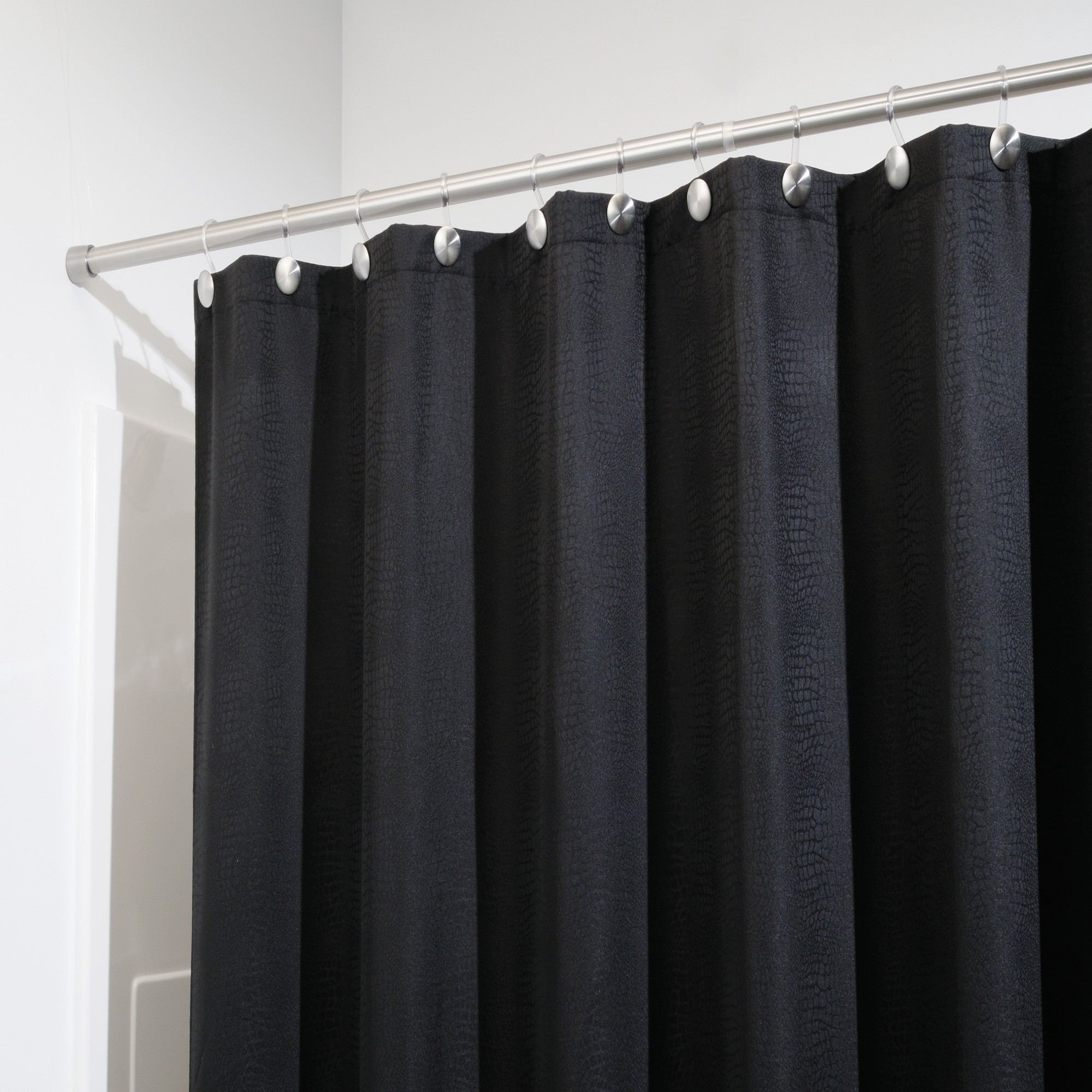 Exciting Bathroom Decor Ideas with Shower Curtain Tension Rod: Tension Shower Curtain Rods | Shower Curtain Rod Length | Shower Curtain Tension Rod