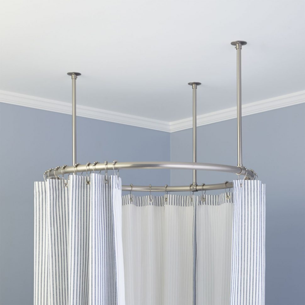Tension Shower Curtain Rods | Shower Curtain Tension Rod | Shower Curtain Poles