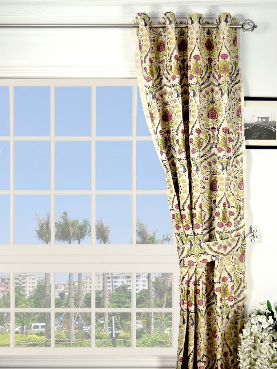 Thick Striped Curtains | Embroidered Curtains | Urban Outfitters Curtains