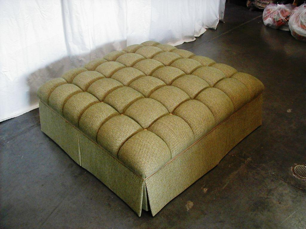 Extra Large Ottoman for Large Space Living Room Design: Upholstered Cocktail Ottoman | Extra Large Ottoman | Oversized Cocktail Ottoman