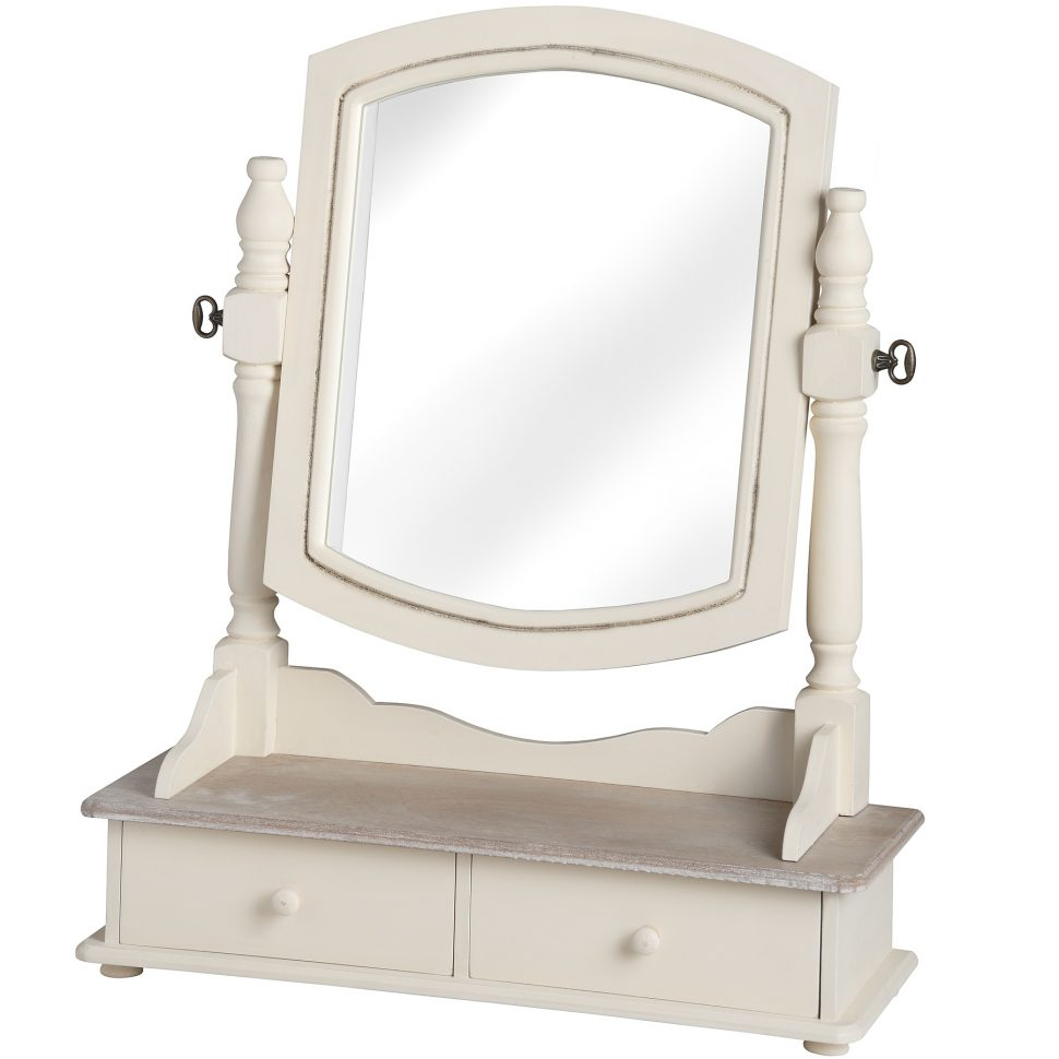 Vanity Set with Lighted Mirror | Mirrored Vanity Set | Mirrored Vanity Makeup Table