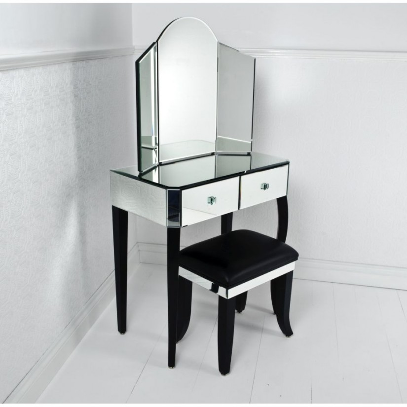 Vanity Set With Lights For Bedroom | Mirrored Vanity Set | Vanity With Mirror