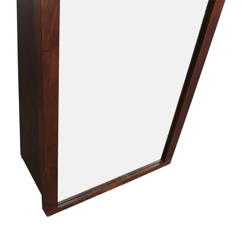 Wall Mount Full Length Mirror | Crate And Barrel Mirrors | Round Metal Mirrors For Walls