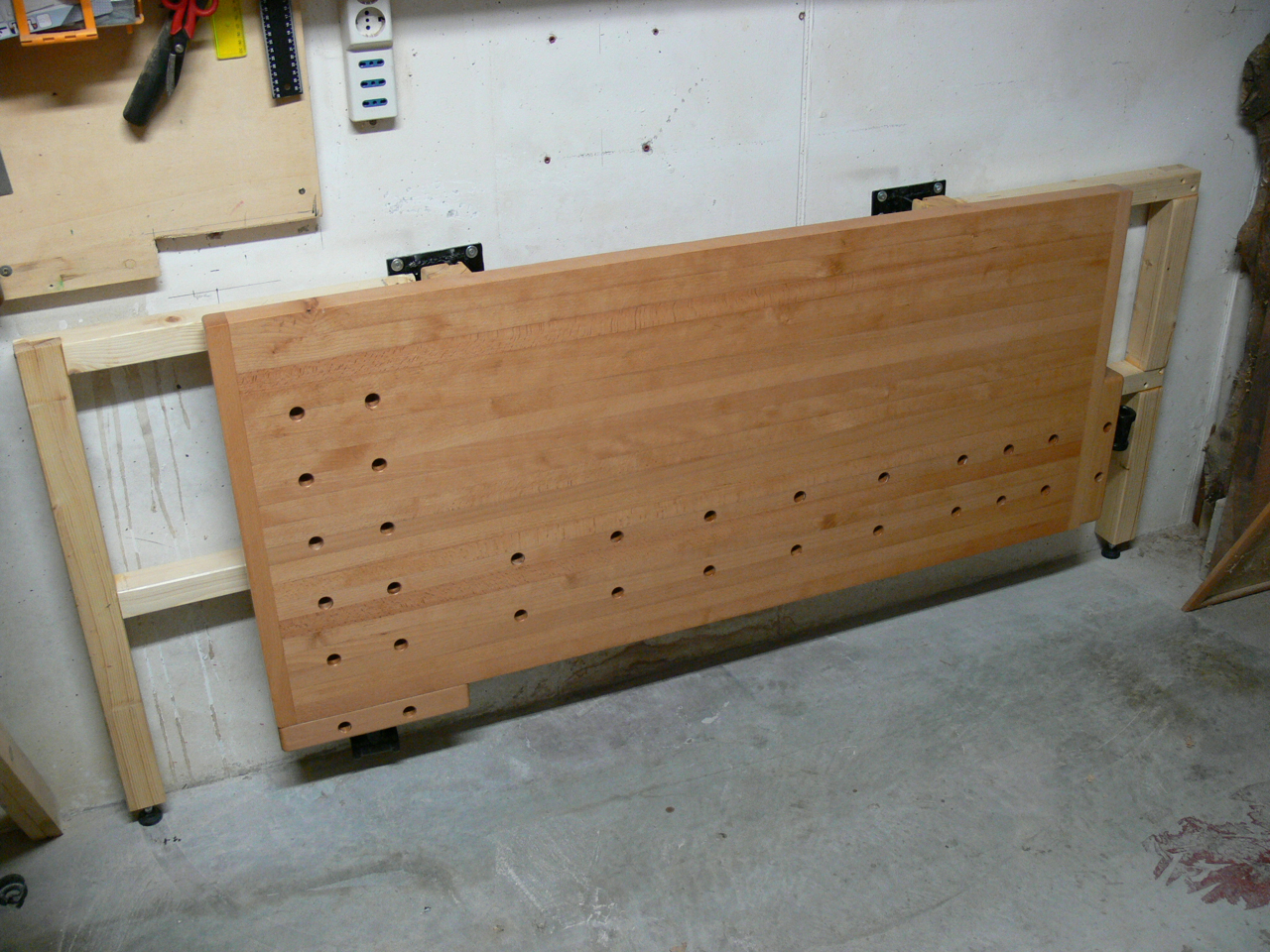 Wall Mounted Folding Workbench | Collapsable Workbench | Space Saver Workbench