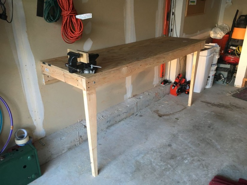 Wall Mounted Folding Workbench | Collapsible Work Bench | Collapsible Workbench Plans