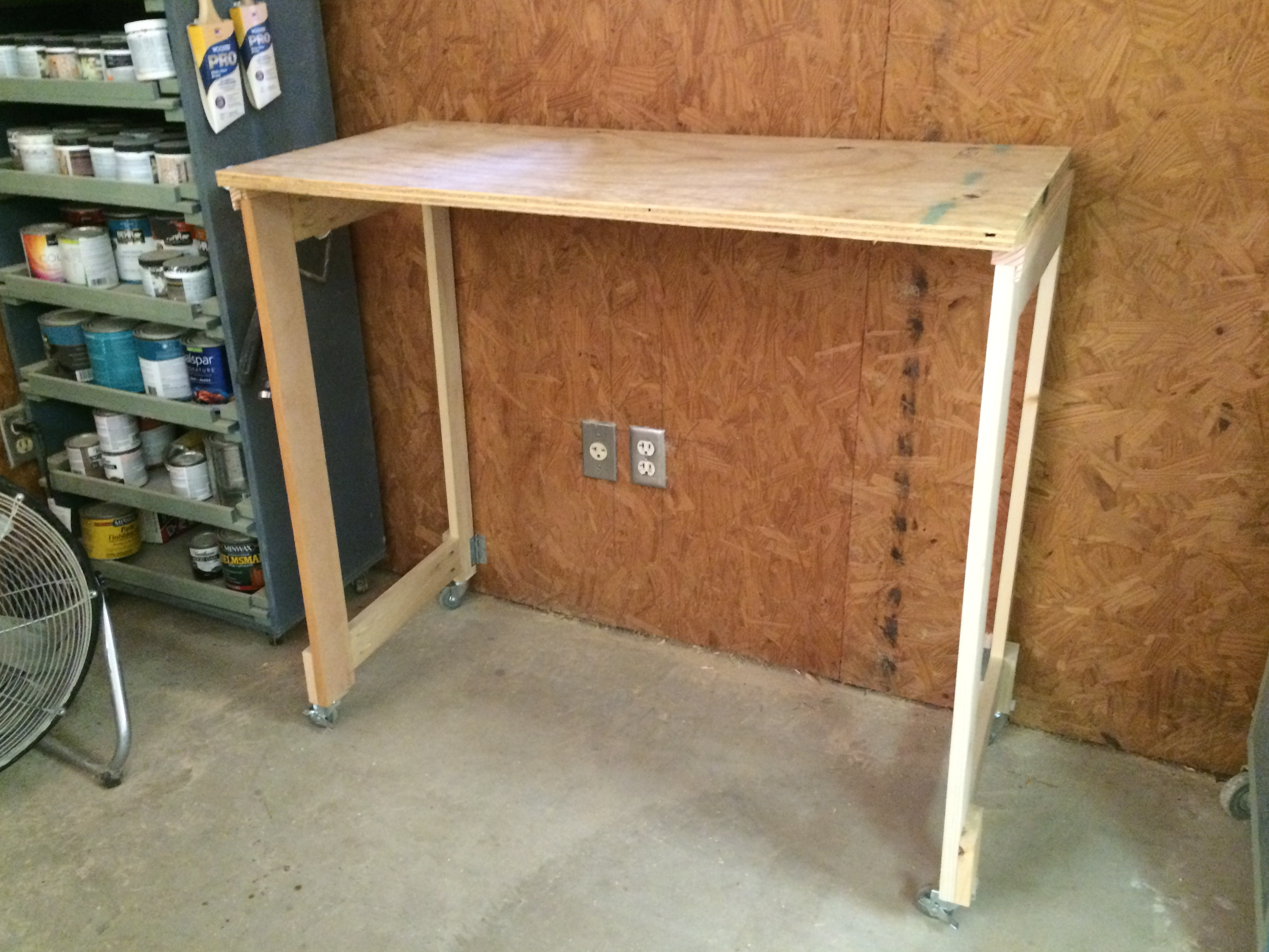 Wall Mounted Folding Workbench | Fold Down Wall Bench | Fold Down Workbench