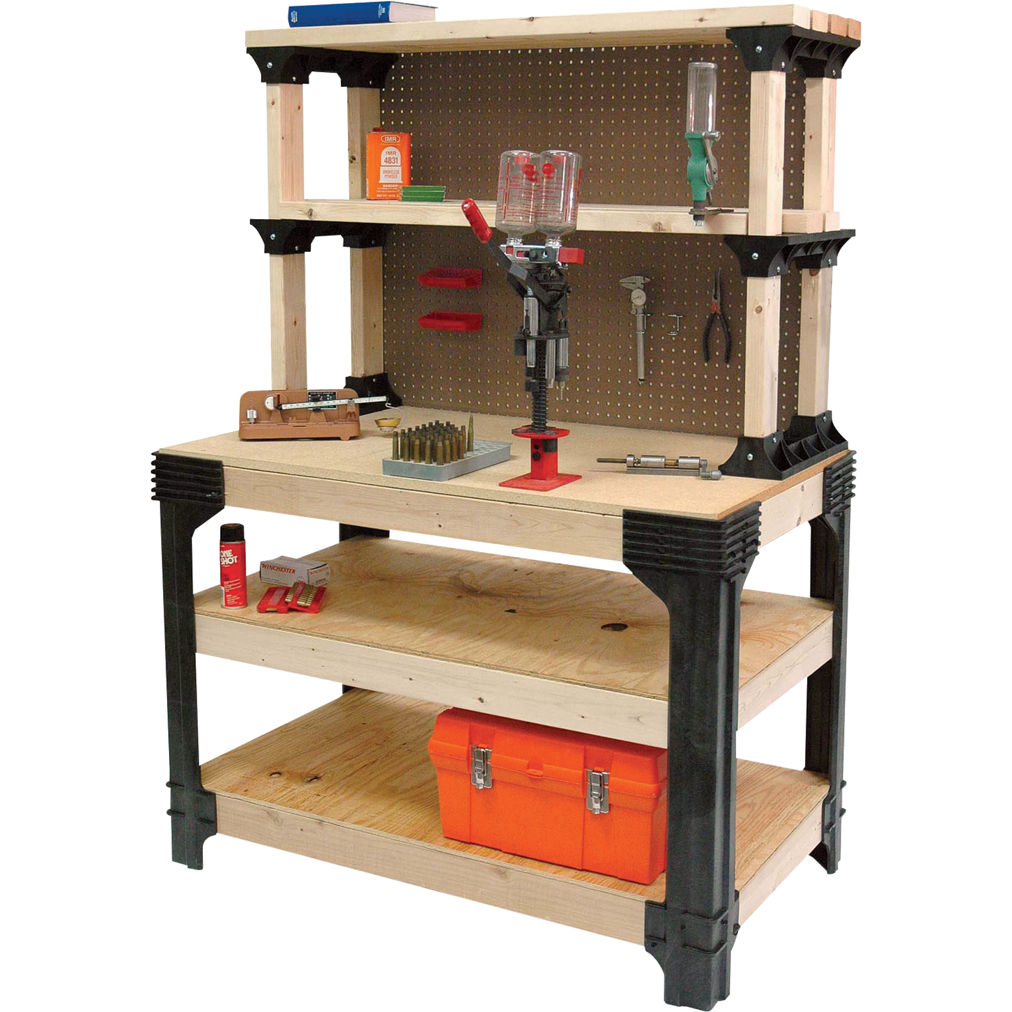 Wall Mounted Folding Workbench | Foldaway Workbench | Fold Up Workbench Plans