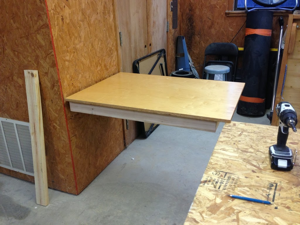 Wall Mounted Folding Workbench | How To Build A Folding Workbench | Workbench Folding Legs