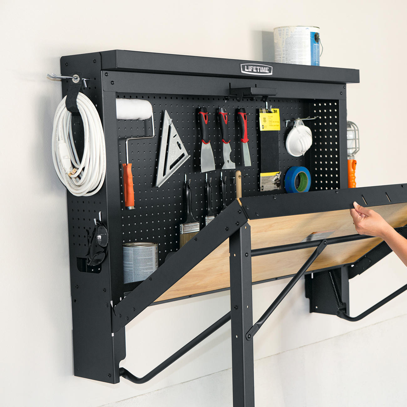 Wall Mounted Folding Workbench | Wall Mounted Workbench | Floating Workbench
