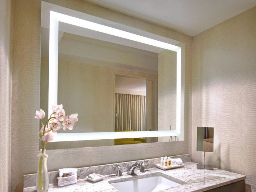 Wall Mounted Lighted Magnifying Mirror | Lighted Wall Mount Mirror | Lighted Wall Mirror