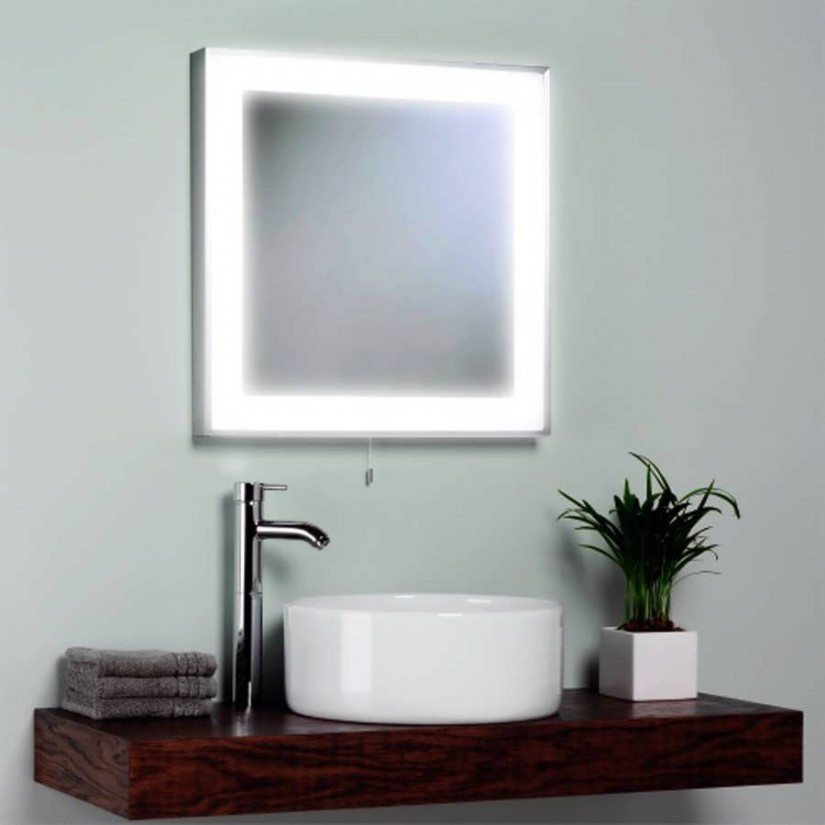 Wall Mounted Shaving Mirror With Light | Lighted Wall Mirror | Wall Mounted Lighted Vanity Mirror