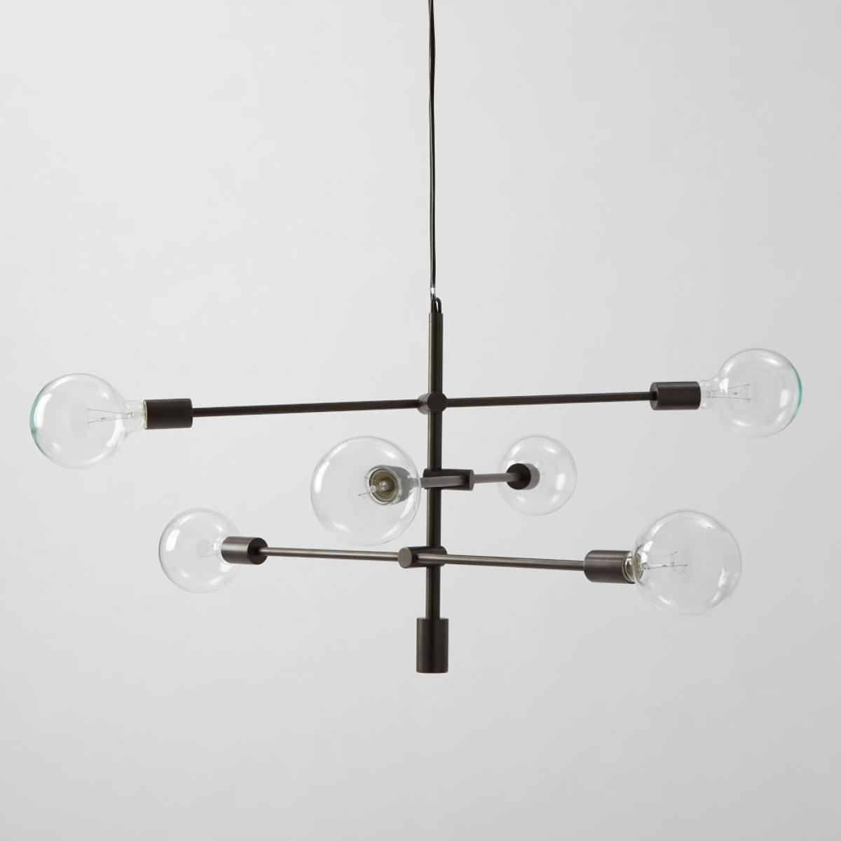 West Elm Chandelier | Capiz Chandelier Rectangular | Pottery Barn Teen Lighting