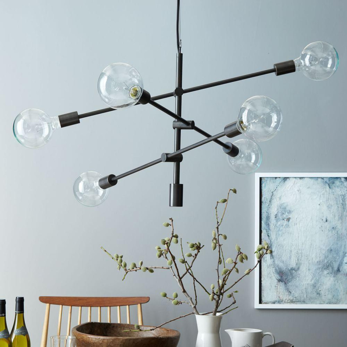 Modern Interior Lighting Design with West Elm Chandelier: West Elm Chandelier | Modern Round Crystal Chandelier | Pottery Barn Ceiling Light Fixtures