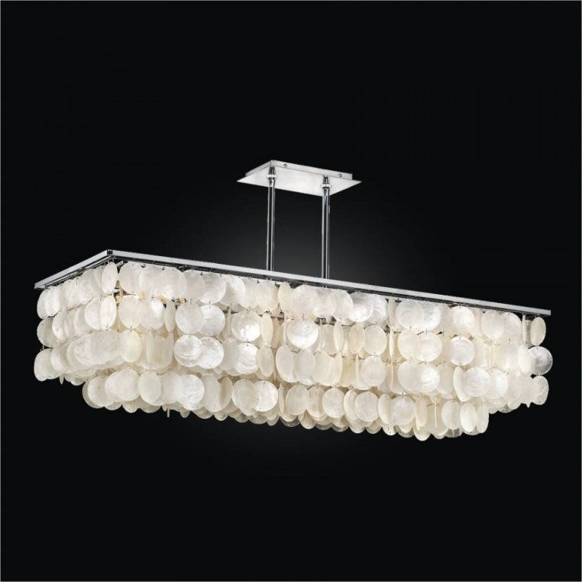 West Elm Chandelier | Williams Sonoma Lighting | Modern Rectangular Crystal Chandelier