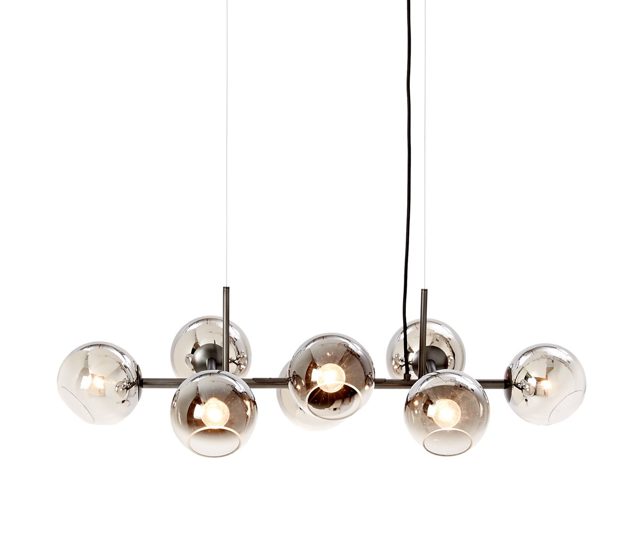 West Elm Rectangular Capiz Chandelier | Smoked Glass Chandelier | West Elm Chandelier