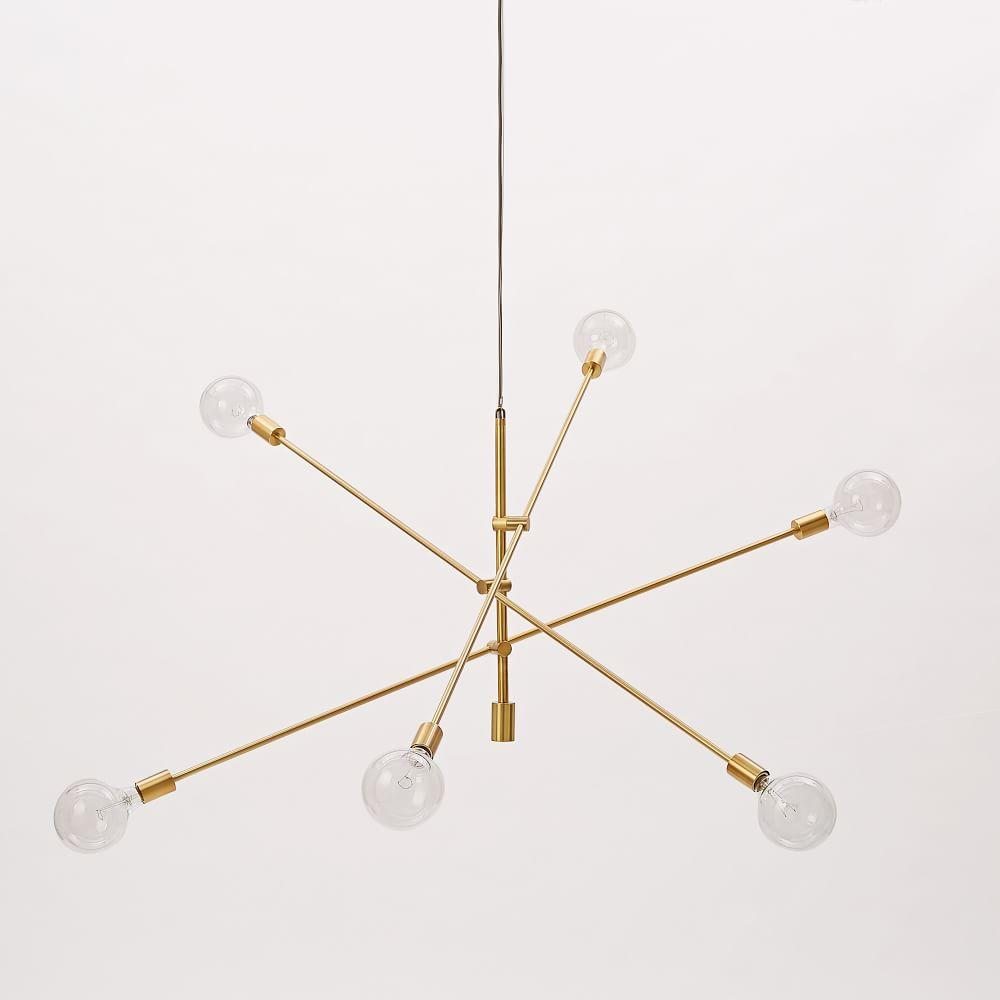 William Sonoma Home Lighting | West Elm Chandelier | West Elm Chandelier Capiz