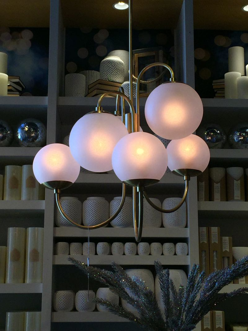 Modern Interior Lighting Design with West Elm Chandelier: William Sonoma Lighting | West Elm Chandelier | Modern Round Crystal Chandelier