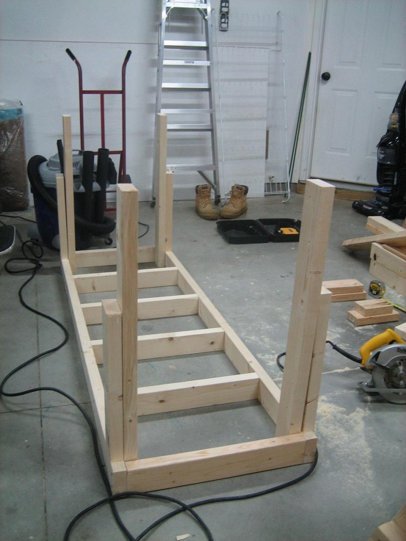 Workbench Legs With Casters | Wooden Workbench Kits | Work Bench Legs